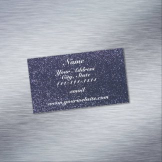 Navy blue glitter magnetic business cards (Pack of 25)