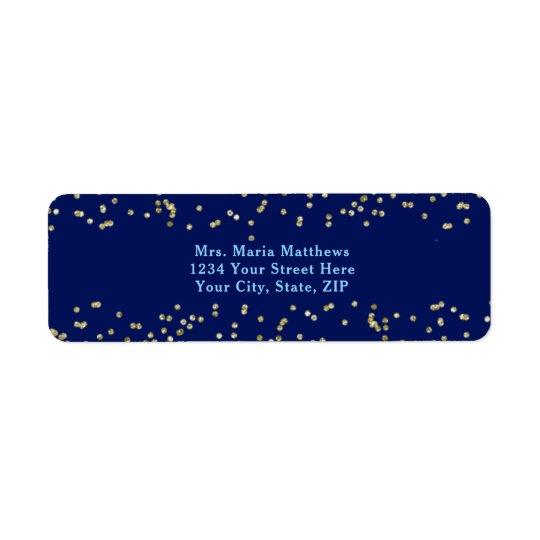 Navy Blue Gold Confetti Boy Baby Shower