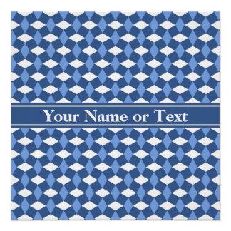 Navy/Blue/Gray Wavy Pattern Invitation