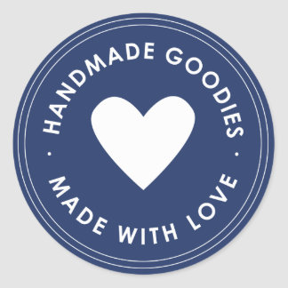 Navy Blue Handmade Goodies Sticker