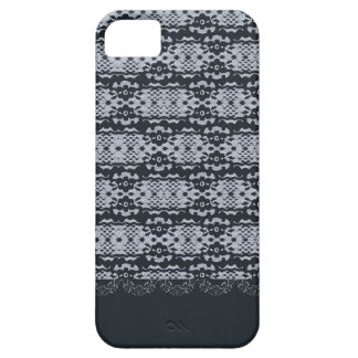 Navy Blue Lace Elegant and Sophisticated Design iPhone 5 Cover