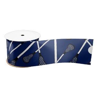 Navy blue lacrosse sticks satin ribbon