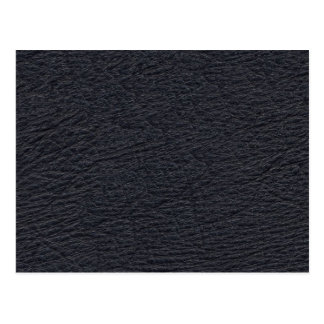 Navy Blue Leather Texture Postcard
