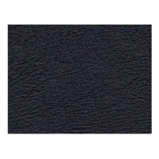 Navy Blue Leather Texture Postcard