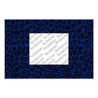 Navy blue leopard print art photo