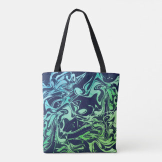 Navy blue marble texture for trendy girls tote bag