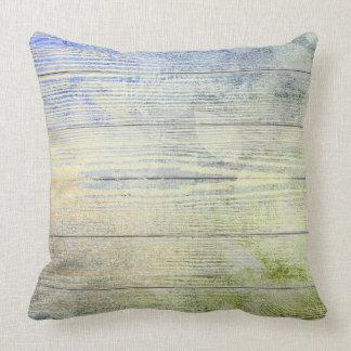 Navy Blue Mint Leaf Botanic Wood Cottage Home Cushion