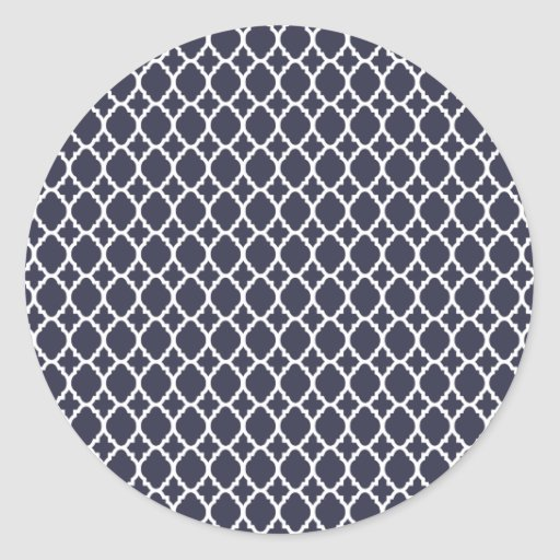 Navy Blue Moroccan Tile Stickers