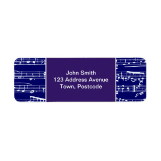 Navy blue music notes