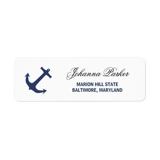 Navy Blue Nautical Anchor Baby Shower