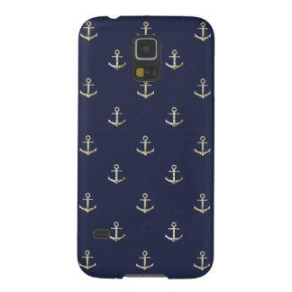Navy blue nautical anchor case for galaxy s5