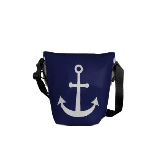 Navy Blue Nautical Anchor Commuter Bags