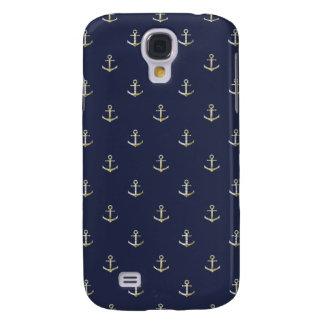 Navy blue nautical anchor galaxy s4 case