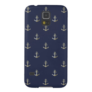Navy blue nautical anchor galaxy s5 cases