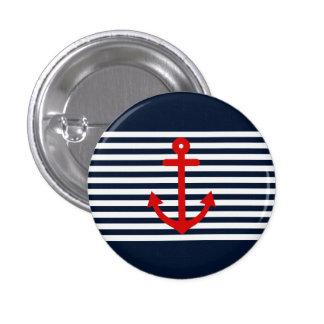 Navy Blue Nautical Pinback Buttons