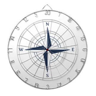 Navy Blue Nautical Compass Dartboard