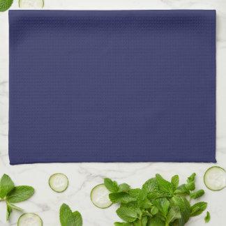 Navy Blue Nautical Coral Tea Towel