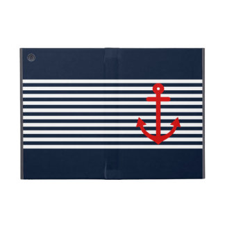 Navy Blue Nautical Cover For iPad Mini