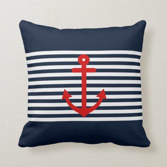 Art Décor: Navy Blue Nautical Cushion