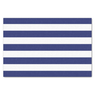 Navy Blue Nautical Stripes Tissue Paper