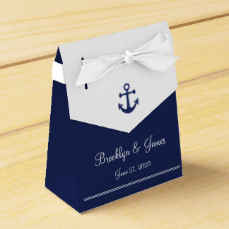 Navy Blue Nautical Wedding Favor Boxes Tent Party Favour Box
