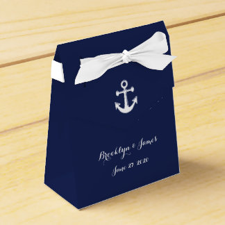 Navy Blue Nautical Wedding Favor Boxes With Anchor Party Favour Boxes