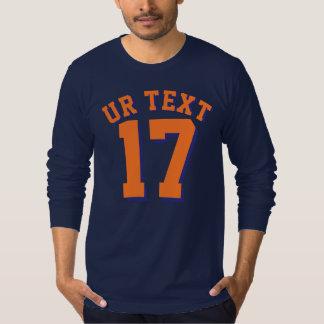 Navy Blue & Orange Adults | Sports Jersey Design Shirts