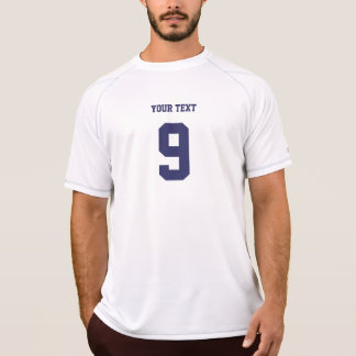 Navy blue personalized number & name sports jersey T-Shirt