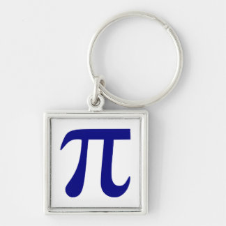 Navy Blue Pi Symbol Key Ring
