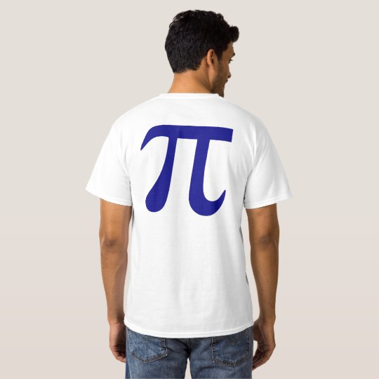 Navy Blue Pi Symbol T-Shirt