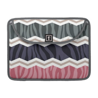 Navy Blue, Pink, Tan, and Gray Zebra Stripes Sleeves For MacBooks