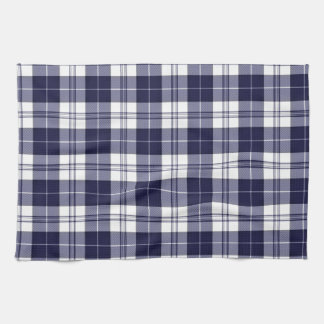Navy Blue Plaid Tea Towel
