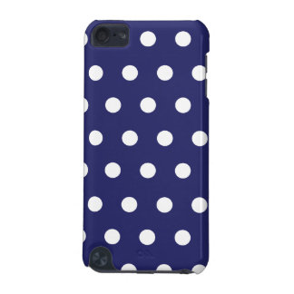 Navy Blue Polka Dot iPod Touch (5th Generation) Cover