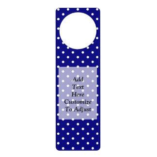 Navy blue polka dot pattern door hanger