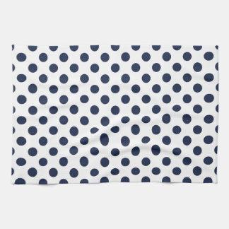 Navy Blue Polka Dot Tea Towel