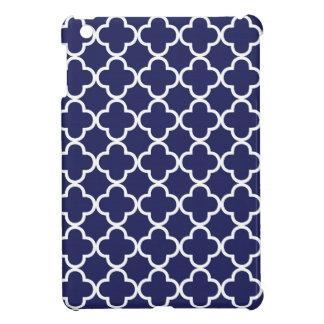 Navy Blue Quatrefoil iPad Mini Case