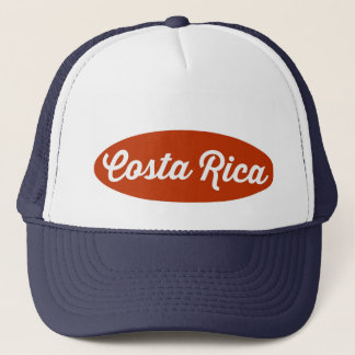 Navy Blue Red Oval Costa Rica Logo Hat