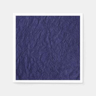 Navy Blue Retro Crumpled Paper Disposable Napkins