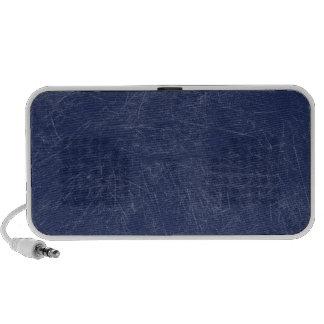 Navy blue Retro Grunge Scratched Texture iPod Speaker