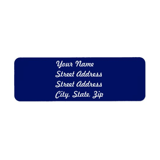 Navy Blue Return Address Sticker