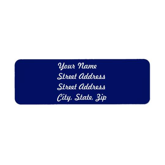 Navy Blue Return Address Sticker Return Address Label