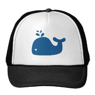 Navy Blue Silhouette Whale Cap