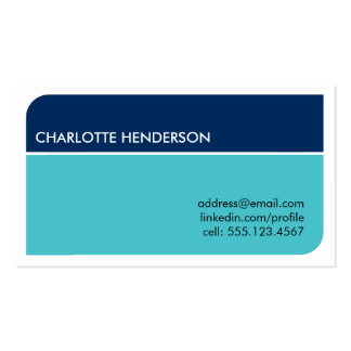 Navy blue smart student employment resume card pack of standard business cards