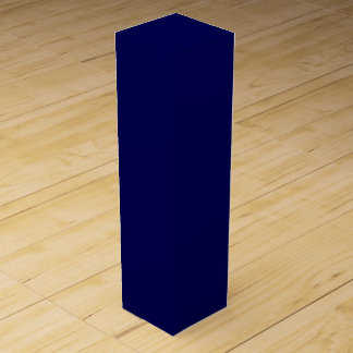 Navy Blue Solid Color Customize It Wine Bottle Boxes