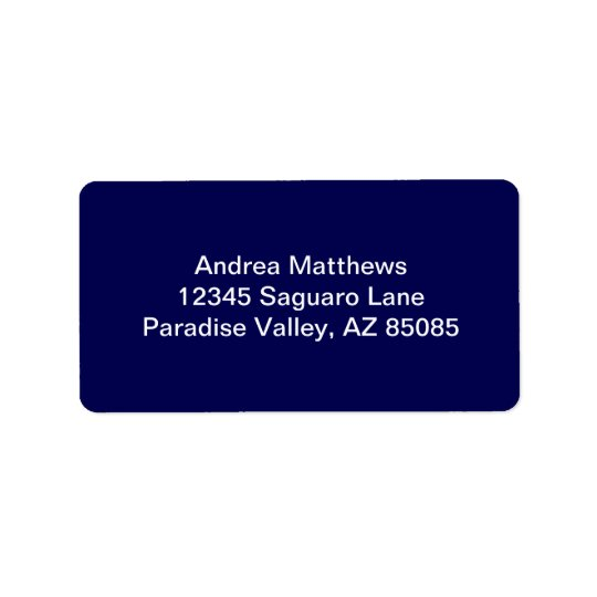 Navy Blue Solid Colour Customise It Label
