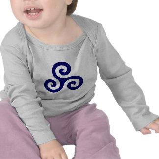 Navy Blue Spiral Triskele Tees