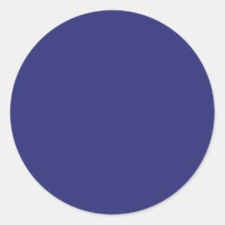 Navy Blue Round Sticker