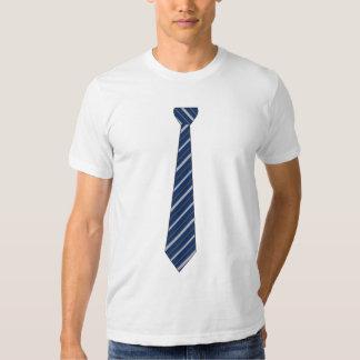 Navy Blue Stripe Tie T Shirt