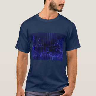 Navy Blue T-Shirt with Digital Art 'Concert Hall'