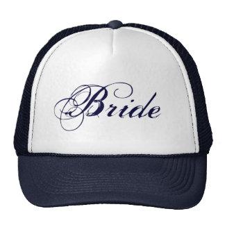 Navy blue theme Bride hat